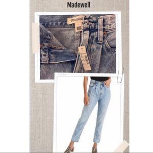 Madewell mom's Jeans acid-y wash Sz 24